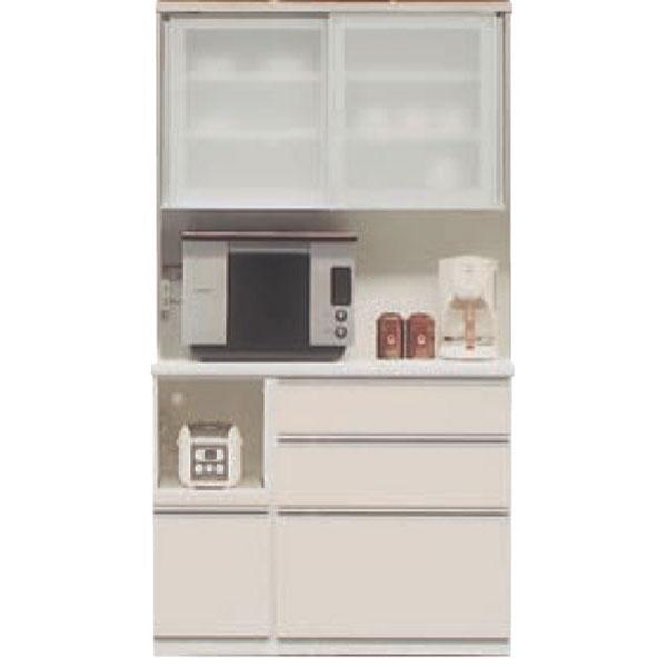100cm幅 レンジボード レンジ台 食器棚 キッチン収納 家電収納引戸 高さ2タイプ(199cm・179cm) カラー50色対応受注生産品 国産 開梱設置・送料無料