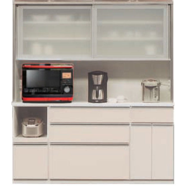 180cm幅 レンジボード レンジ台 食器棚 キッチン収納 家電収納引戸 高さ179cm カラー50色対応国産 開梱設置・送料無料