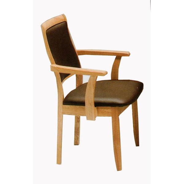 ダイニングチェアー 天然木肘付きチェア 椅子 完成品送料無料