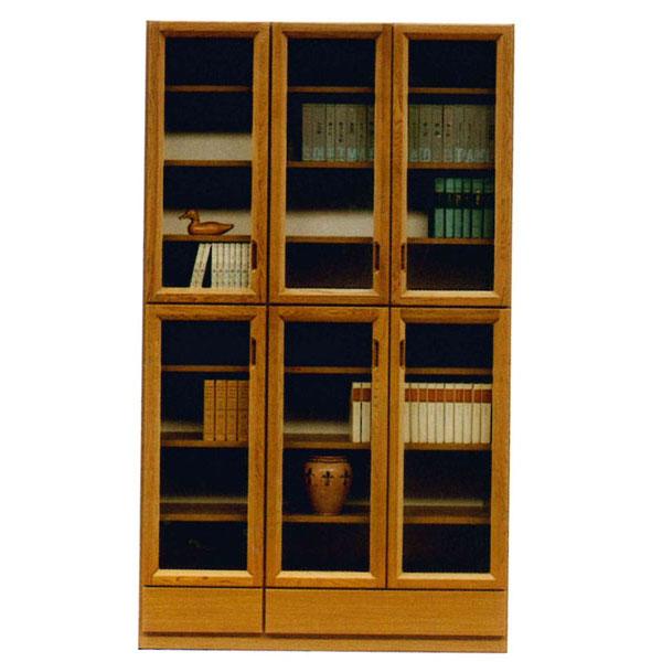【6/1~6/3 ポイント5倍以上!】 書棚 フリーボード開き戸 完成品 国産 118cm幅カラー対応2色 開梱設置 送料無料