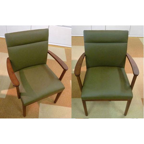 椅子 肘付イス ダイニングチェア合成皮革張り2脚セット 送料無料