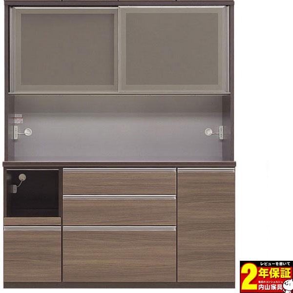 レンジボード 156cm幅 完成品 キッチン収納 高さ2タイプ 奥行2タイプ 前板カラー対応50色送料無料 開梱設置