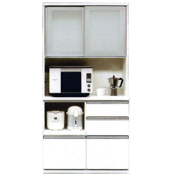 \ポイント増量&お得クーポン/ オープン食器棚 完成品レンジボード 100cm幅国産 開梱設置 送料無料