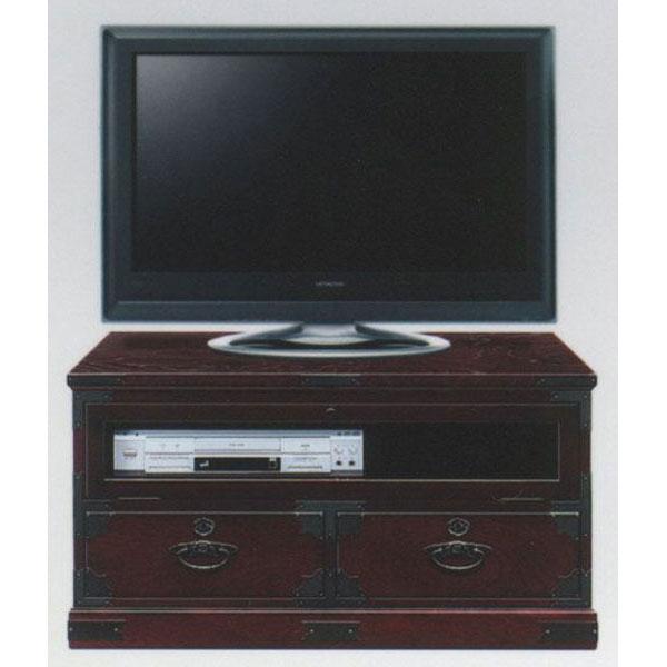 民芸家具 和 和風テレビボード ロータイプ 完成品「榎津民芸 90cmテレビボード」 国産送料無料 開梱設置