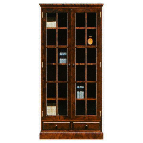 本棚 書棚 民芸家具 開き戸 完成品 85cm幅 「樹氷」 開梱設置 送料無料