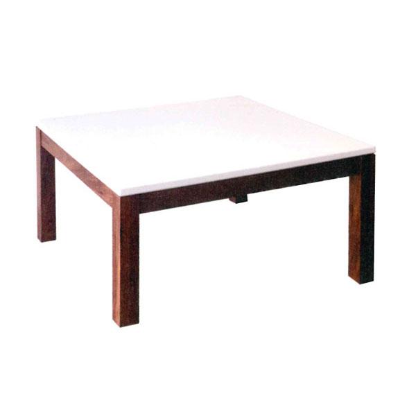 テーブル 座卓 MDF・ウォールナット無垢 国産100cm幅 「シーロ」 送料無料