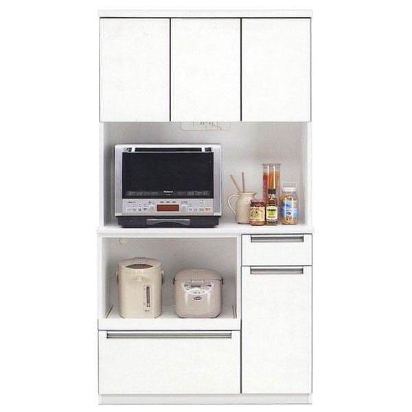\ポイント増量&お得クーポン/食器棚 レンジボード完成品 100cm幅 「グローレ」開梱設置 送料無料