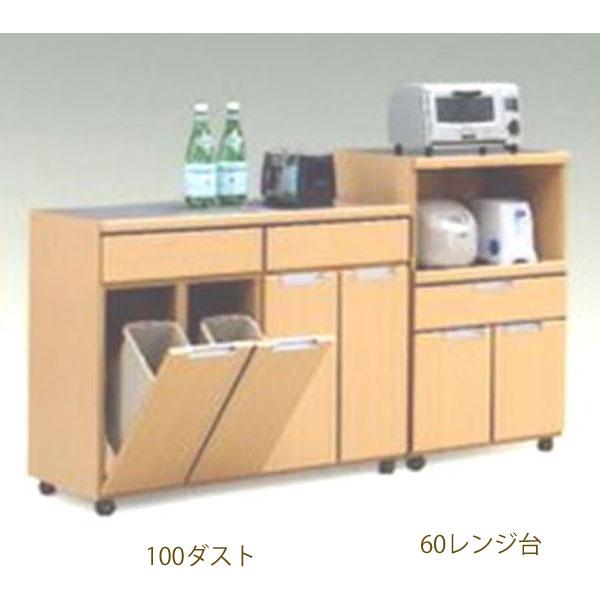 \ポイント増量&お得クーポン/ダストボックス 完成品 26.5リットル2個付き100cm幅 「NEW-スキット」カラー対応3色 送料無料 開梱設置