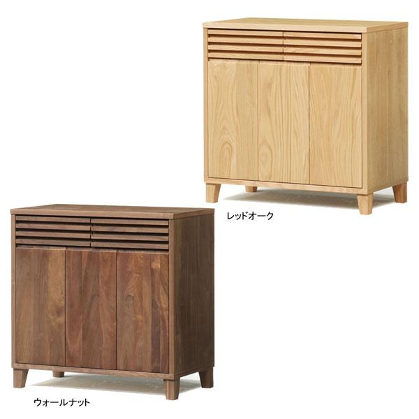 【送料無料】サイドボード キャビネット 飾り棚 収納「バジル」 90cm幅 2色対応