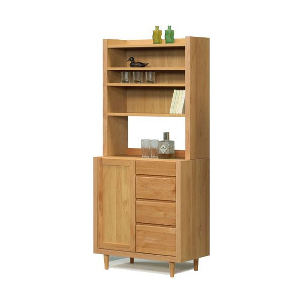 【送料無料】サイドボード+上置シェルフ 飾り棚 収納「ジュリア」 80cm幅