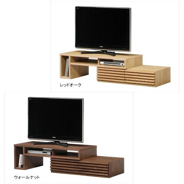 \ポイント増量&お得クーポン/【送料無料】伸縮TVボード2P テレビボード ロータイプ「タイム」 119cm幅(上置・下置) 2色対応