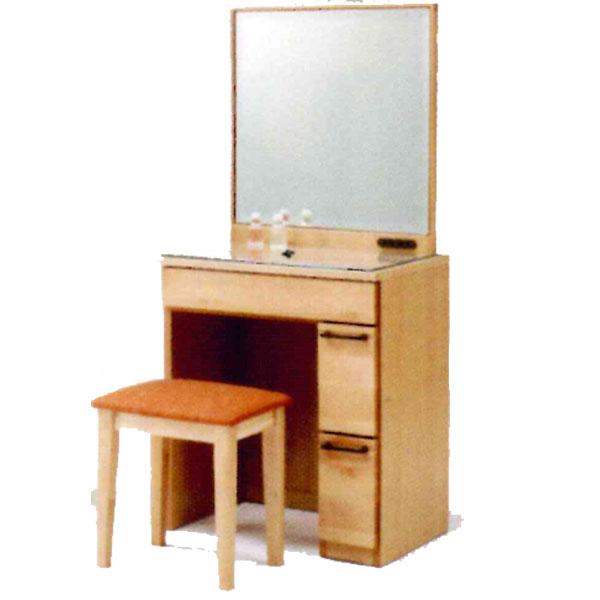 【送料無料】 ドレッサー 化粧台一面ドレッサー 鏡台 姿見「ラパン2」 60cm幅 イス付