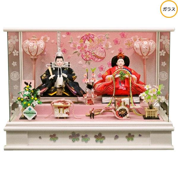 【ポイント増量!最大34倍&お得クーポン】 雛人形 ひな人形 衣装着人形 ガラスケース親王飾り 親王ケース飾り 16-2-5 送料無料 お雛様
