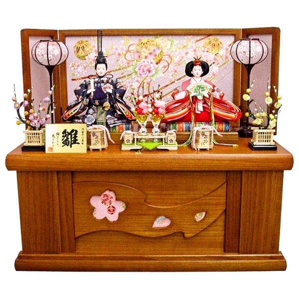 【エントリーでポイント最大33倍!】 雛人形 ひな人形 収納飾り 衣装着人形 三五二人親王飾り 親王収納飾り S6-2-12 送料無料 お雛様