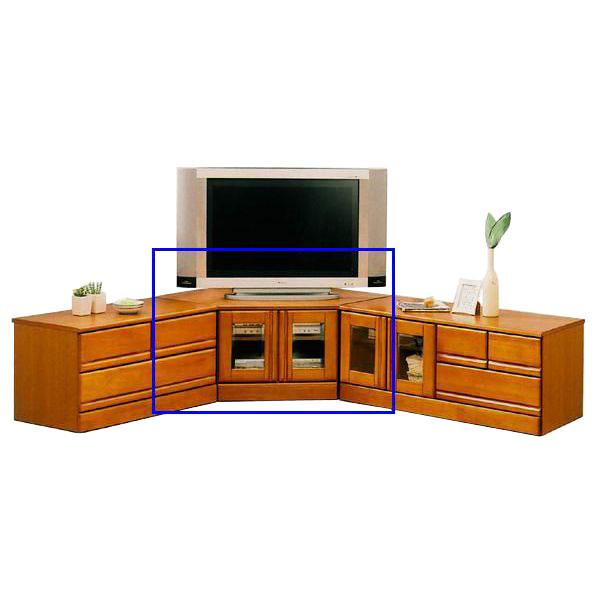 テレビボード TVボード コーナーボード 完成品ブラウン 国産 90cm幅 「ジェロ」送料無料
