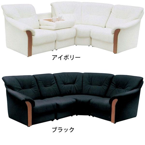 コーナーソファ 完成品合成皮革張り 4点セットテーブル付き 「ラガー」 送料無料 開梱設置