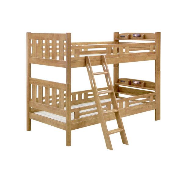 \ポイント増量&お得クーポン/組み立てします 送料無料 開梱設置2段ベッド 二段ベッド「アネシス」 すのこ床板宮付きライト付き カラー対応2色
