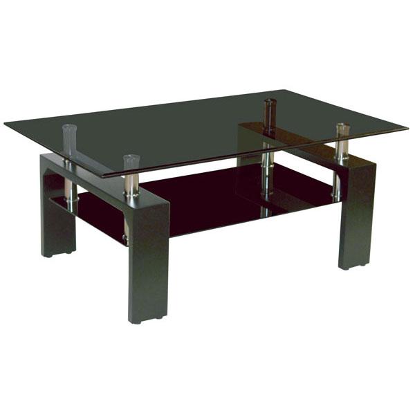 \ポイント増量&お得クーポン/リビングテーブル センターテーブルガラス 120cm幅 「ブラッキー」 送料無料