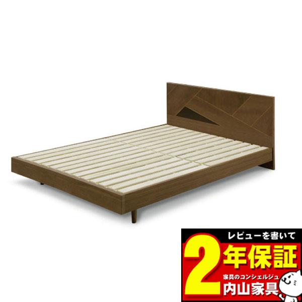 ベッドフレームのみ ダブルベッドフレーム 「アングイス」 幅143.5cm 送料無料