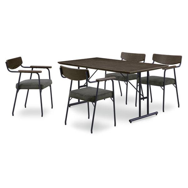 【4/9~ポイント増量&お得クーポン】 送料無料テーブルはオーク突板材ダイニングテーブル5点セットテーブル140cm幅 「コールB」