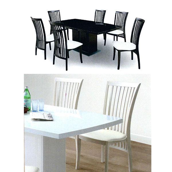\ポイント増量&お得クーポン/ダイニングテーブルセット 170cm幅 7点セット6人掛け 6人用 ダイニングセット 食卓セット「コーラス-Corus-」 UV塗装 収納スペース付 2色対応 開梱設置・送料無料