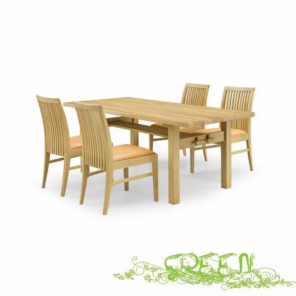 【4/9~ポイント増量&お得クーポン】 GREEN ROSEMARY DININGSET R-010/R-022革張り椅子 食卓セラウッド塗装ダイニングテーブルセット 送料無料