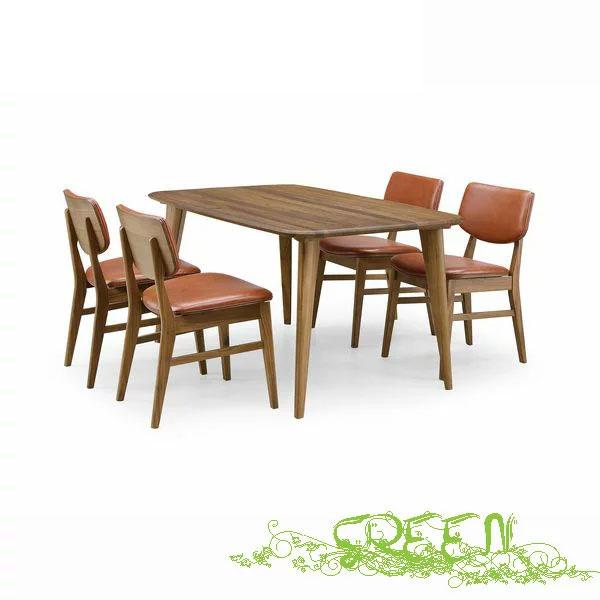 \3/21~ポイント増量&お得クーポン/ 緑 YUZU DININGSET Y-003/Y-021 革張り椅子 食卓セラウッド塗装ダイニングテーブルセット 送料無料