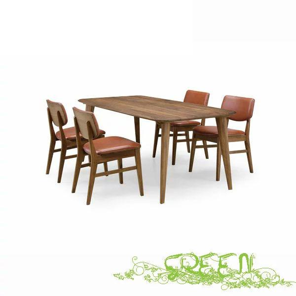 【4/9~ポイント増量&お得クーポン】 GREEN YUZU DININGSET Y-003/Y-025 革張り椅子 食卓セラウッド塗装ダイニングテーブルセット 送料無料