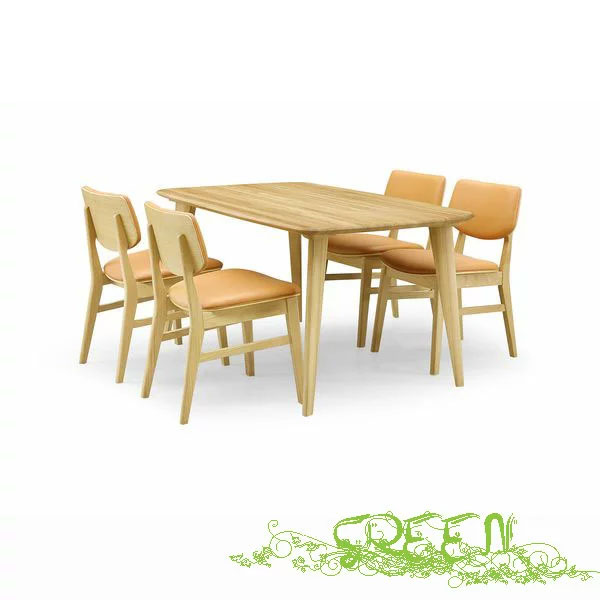 【4/9~ポイント増量&お得クーポン】 GREEN YUZU DININGSET Y-004/Y-022 革張り椅子 食卓セラウッド塗装ダイニングセット 送料無料