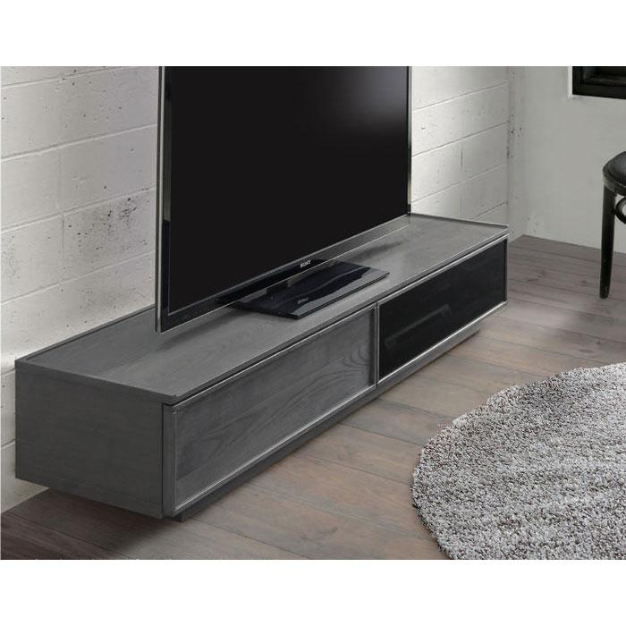 180cmレビボード TVB TVボード テレビ台 ローボード 「ヒュージ」 ロータイプ フルオープンレール仕様 送料無料