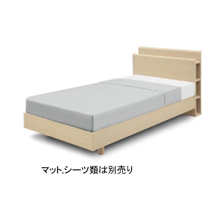 ベッドフレームのみ シングルベッドフレーム 「イソラISORA」 幅98cm サイドラック コンセント付 送料無料