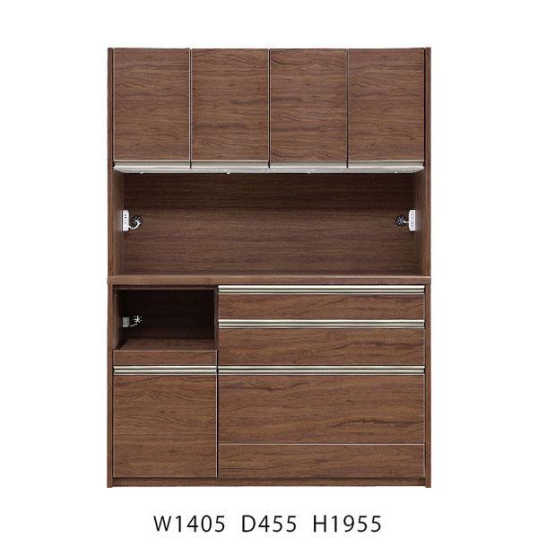 オープン食器棚 140cm幅完成品 レンジボード「レジェロ」 送料無料 開梱設置