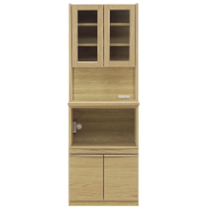 食器棚 60cm幅 完成品 ガラスレンジグボード 「タクト」開梱設置