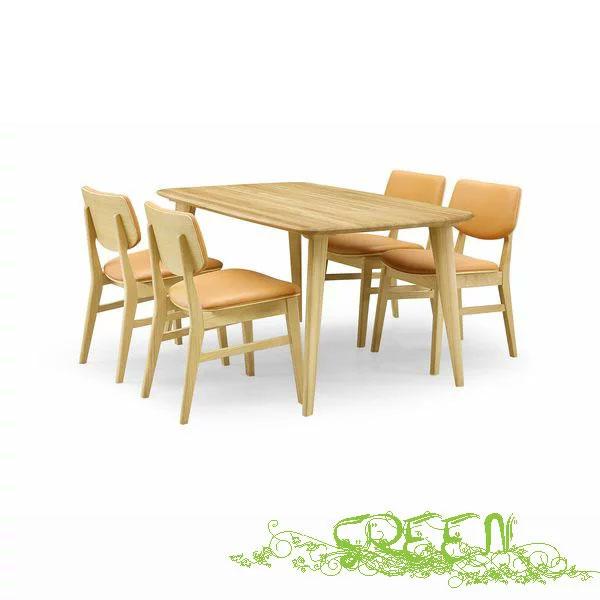 【4/9~ポイント増量&お得クーポン】 GREEN YUZU DININGSET Y-004/Y-024 革張り椅子 食卓セラウッド塗装ダイニングセット 送料無料