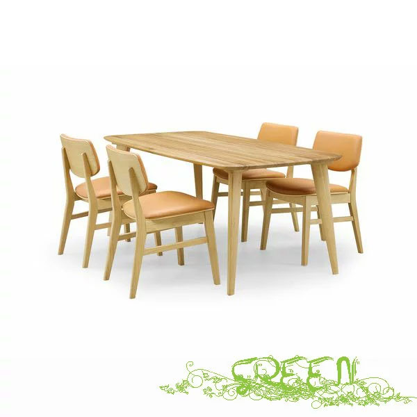 【4/9~ポイント増量&お得クーポン】 GREEN YUZU DININGSET Y-004/Y-026革張り椅子 食卓セラウッド塗装ダイニングセット 送料無料