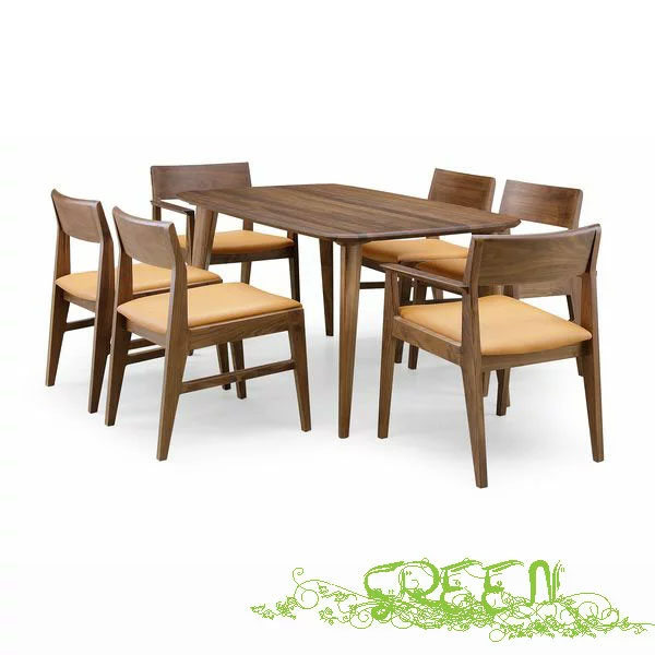 GREEN YUZU DININGSETY-005/Y-007/Y-025革張り椅子 食卓セラウッド塗装ダイニングセット 送料無料