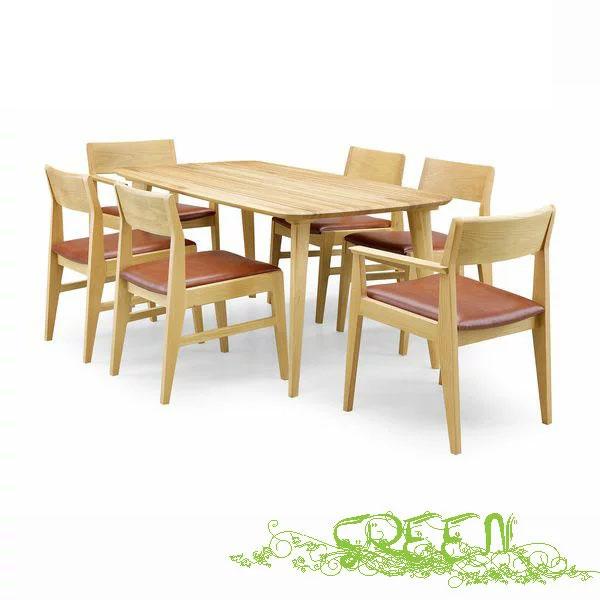 【4/9~ポイント増量&お得クーポン】 GREEN YUZU DININGSETY-006/Y-008/Y-024革張り椅子 食卓セラウッド塗装ダイニングセット 送料無料