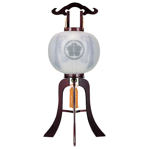 特価 盆提灯 絹張行灯 ワイン二重張 天空鳳凰 11号木製・風鎮付・電気式 家紋入れサービス