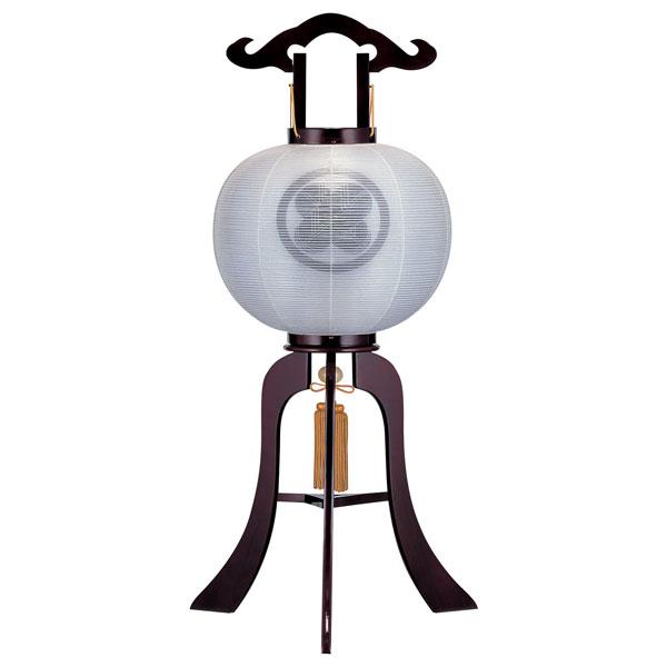 お盆には、故人を偲んで盆提灯を飾りましょう。 \ポイント増量お得クーポン/ 盆提灯 絹張行灯 ワイン二重張 無地 10号木製・風鎮付・電気式 家紋入れサービス