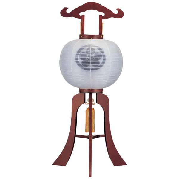 盆提灯 絹張行灯 ケヤキ調二重張 無地 12号木製・風鎮付・電気式 家紋入れサービス