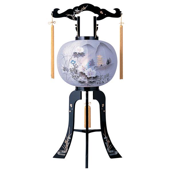 盆提灯 回転行灯 金箔塔柄 11号プラスチック製・蒔絵・電気式