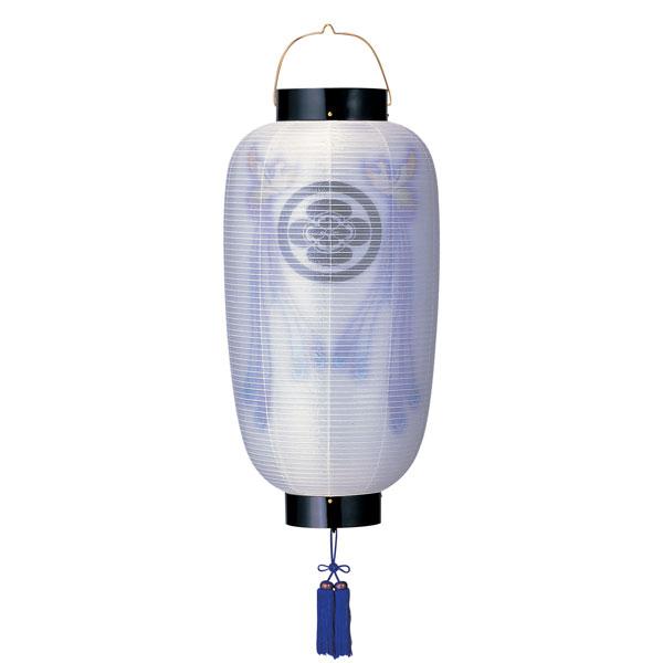 特価 盆提灯 門提灯 絹張尺六長 二重張天空鳳凰紫房付 電気式/電池式LED 家紋入れサービス