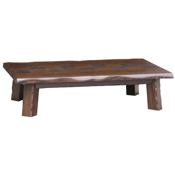 テーブル 長方形 座卓タモ うづくり仕上げ 120cm幅 「岐阜」国産 送料無料