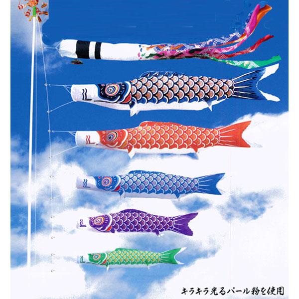 五月 五月飾り 端午の節句 鯉のぼり こいのぼりニューサテンゴールド鯉セット 祥龍吹流し 6m6点セット