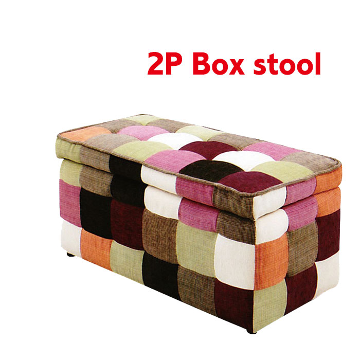 2 P Stool Candy Stool Box Stool Chair Stool Storage Stool Sofa Chair Chairs  Two Seat Sofa Storage Box Fabric
