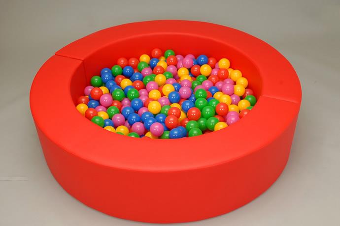 【ボールプール ベビー マット】ミニボールプール 赤(カラーボール500個付)【ボールプール】