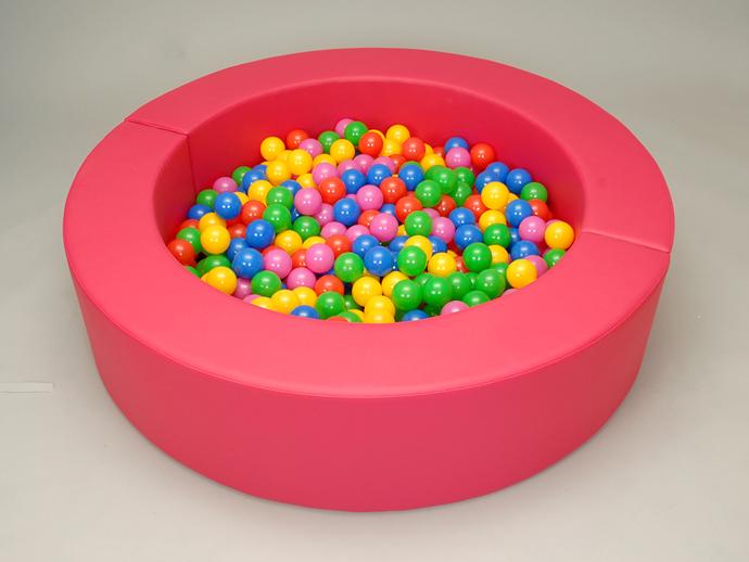 【ボールプール 】 ミニ ボールプール ショッキングピンク(カラーボール500個付)キッズ おもちゃ 子供 幼児 ベビー 玩具 知育玩具 室内用 ボールハウス キッズコーナー ブロック ボールプール クッション 日本製