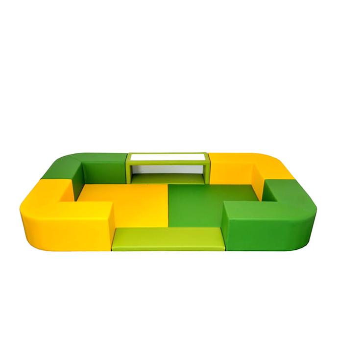 【 送料無料 キッズコーナー 】 バンビファンシーセット Rコーナー 1畳 BC13(デスク・デスクマット・入口マット付)ベビー 幼児 フロアマット キッズスペース
