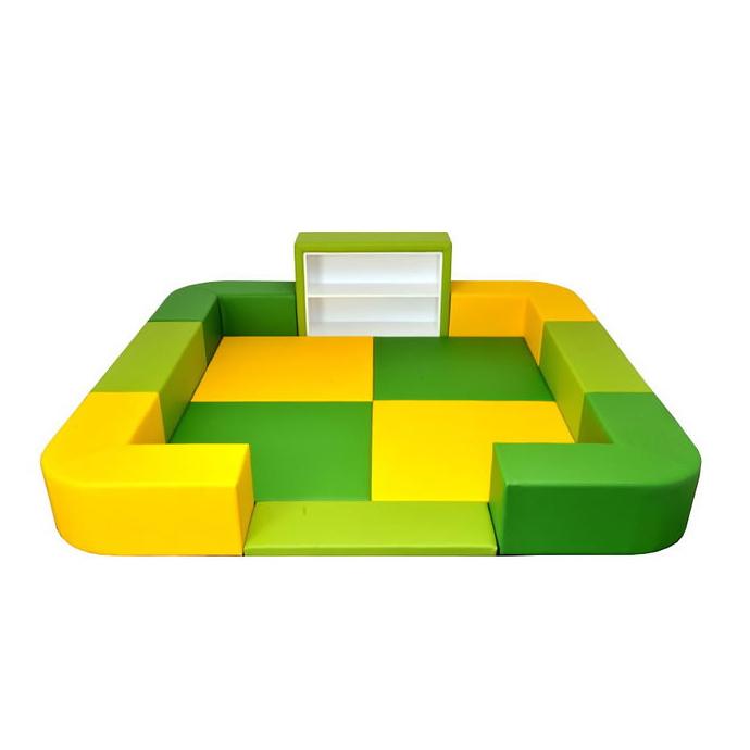 【 キッズコーナー 】 バンビファンシーセット Rコーナー 2畳 BC23 (多機能ラック・入口マット付) ベビー 幼児 フロアマット キッズスペース