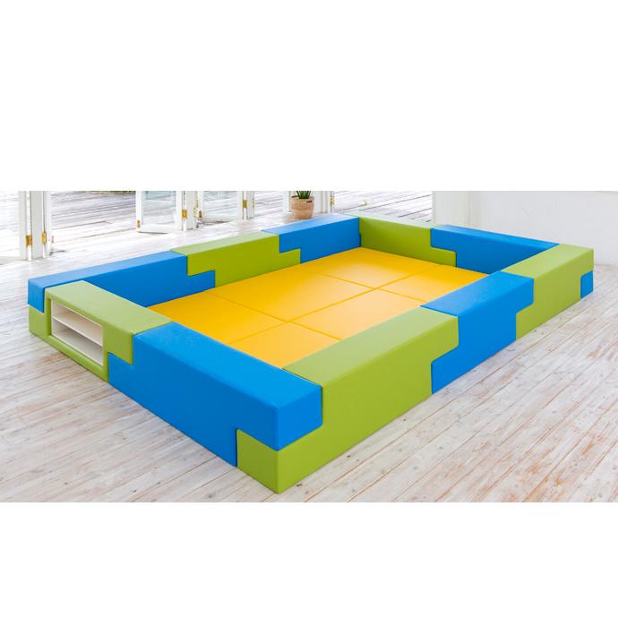 【キッズコーナーセット】 ブロック シリーズ 3畳タイプ 3Bプラン キッズスペース クッション マット 遊び場 店 プレイマット